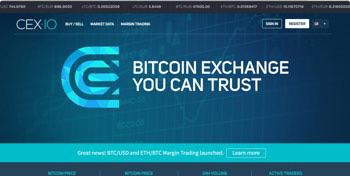 Cex.io Erfahrungen - die Webseite